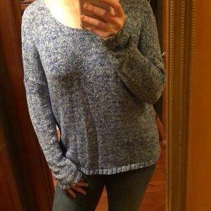 Heather blue sweater